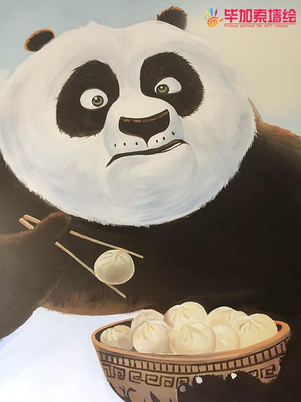健身房功夫熊猫彩绘