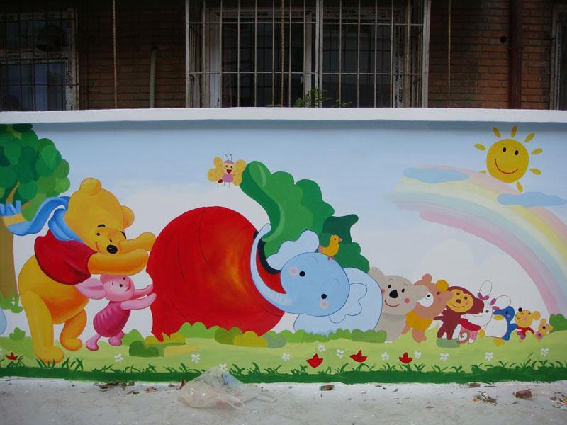 塘沽红贝壳幼儿园墙面彩绘