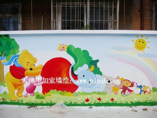 幼儿园走廊墙面绘画